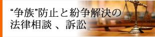 """""""争族""""防止と紛争解決の法律相談 、訴訟"""